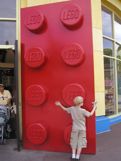 Giant Lego Brick In Anaheim