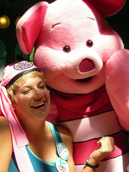 Lisa and Piglet