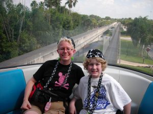 In the front car of the Monorail
