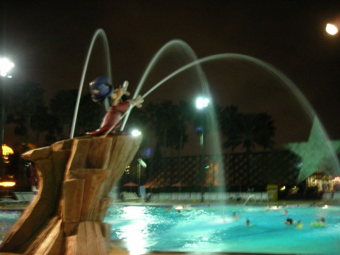 Fantasia Pool at night