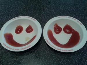 Ketchup smiles at Johnny Rockets, Providence