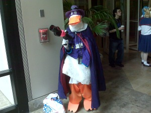 No, I was not expecting to see Darkwing at an anime festival....but I was glad I did.