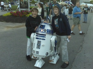 Chllin' with R2 at the Weird Al show last summer