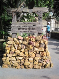 Tombstone for miners