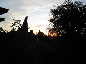 Watching the sun set behind Big Thunder from the Manor's porch