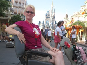 Myself in an ECV at Magic Kingdom