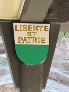Liberte et Patrie sign at the Matterhorn