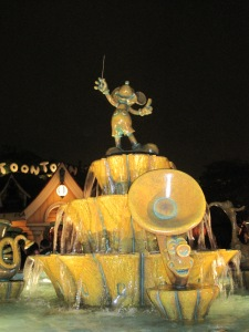 Mickey fountain in Toontown