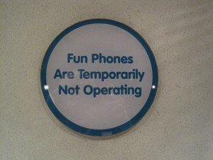 Fun Phones not operating sign in Toontown