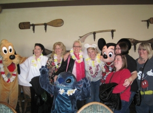 Family and friends at 'Ohana Bridal Shower, at WDW's Polynesian Resort
