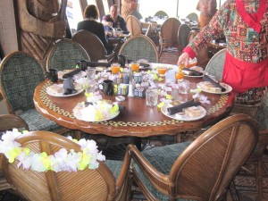 Our table at 'Ohana for the bridal shower