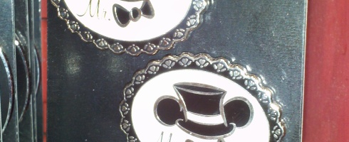 Mr and Mr Wedding Pins at Disney Earport MCO