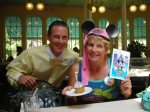 Celebrating Lisa's birthday with Cast Member Jack