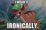 Hipster Bambi - Baseball cap