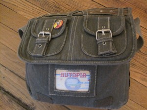 Autopia license in handbag slot