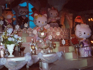 Hello Kitty wedding scene