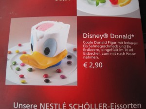 Donald Duck Ice Cream