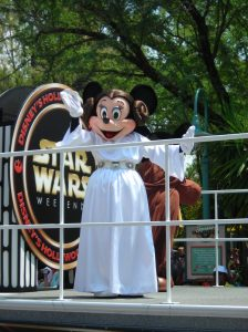 Minnie Mouse as Princess Leia